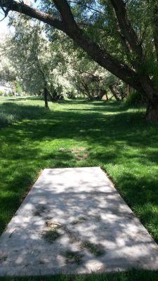 Dry Creek Trail Park, Main course, Hole 7 Tee pad