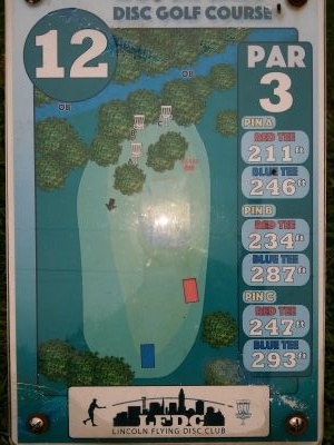 Max E. Roper Interstate Park, East course, Hole 12 Hole sign