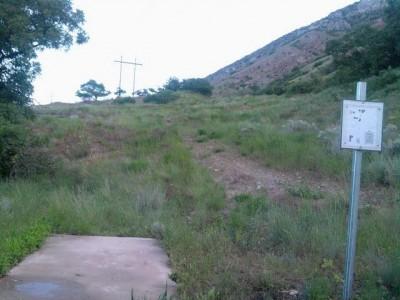 Rock Canyon, Main course, Hole 8 Tee pad