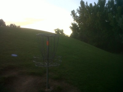 Creekside Park, Main course, Hole 5 Reverse (back up the fairway)