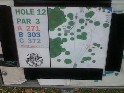 Creekside Park, Main course, Hole 12 Hole sign