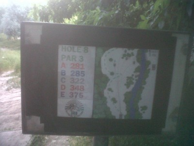Creekside Park, Main course, Hole 8 Hole sign