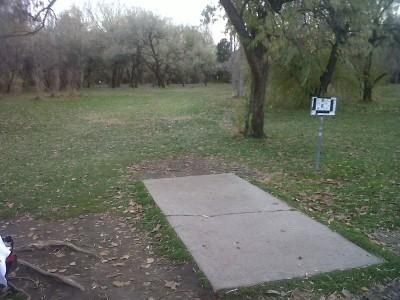 Creekside Park, Main course, Hole 12 Tee pad