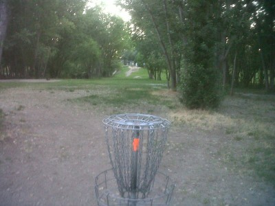 Creekside Park, Main course, Hole 9 Tee pad