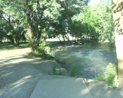 Creekside Park, Main course, Hole 14 Tee pad