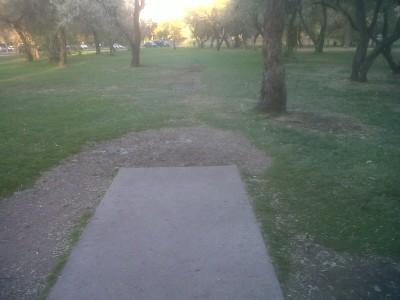 Creekside Park, Main course, Hole 17 Tee pad