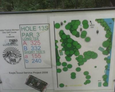 Creekside Park, Main course, Hole 13 Alternate pin