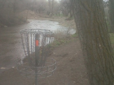Creekside Park, Main course, Hole 14 Reverse (back up the fairway)
