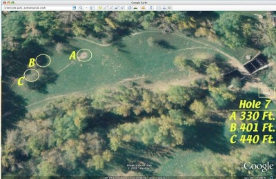 Creekside Park, Main course, Hole 7 Tee pad