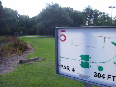 Chester City Park, Main course, Hole 5 Tee pad