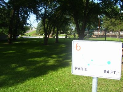 Chester City Park, Main course, Hole 6 Tee pad