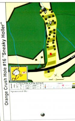Orange Crush, Main course, Hole 16 Hole sign