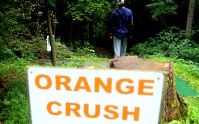 Orange Crush, Main course, Hole 10 Hole sign