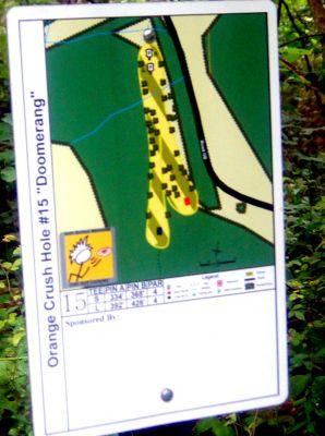 Orange Crush, Main course, Hole 15 Hole sign