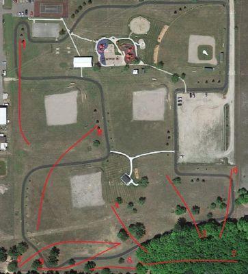 Blair Township Community Park, Main course, Hole 3 Tee pad