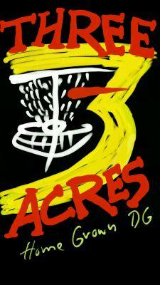 Three Acres Park, Main course, Hole 1 Tee pad
