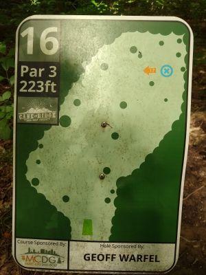 Cane Ridge Park, Main course, Hole 16 Hole sign