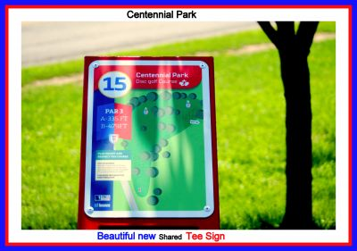 Centennial Park, Ontario Course, Hole 15 Hole sign