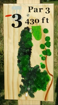 Pine Hills DGC, South course, Hole 3 Hole sign