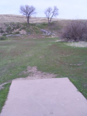 Casper DGC, Main course, Hole 7 Tee pad