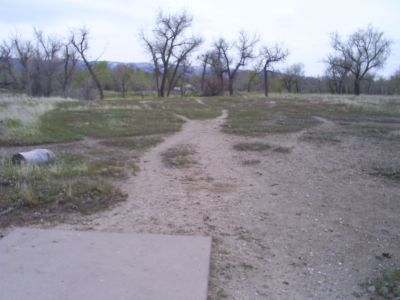 Casper DGC, Main course, Hole 17 Tee pad