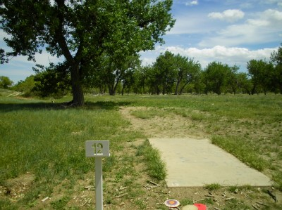 Casper DGC, Main course, Hole 12 Tee pad