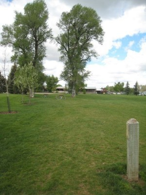 Hamblin City Park, Main course, Hole 9 Tee pad