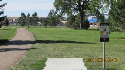 Dalby Memorial Park, Main course, Hole 3 Tee pad