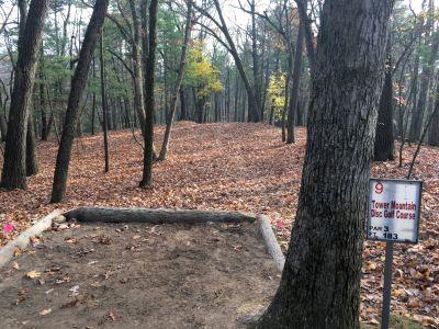 Tower Park, Main course, Hole 9 Long tee pad