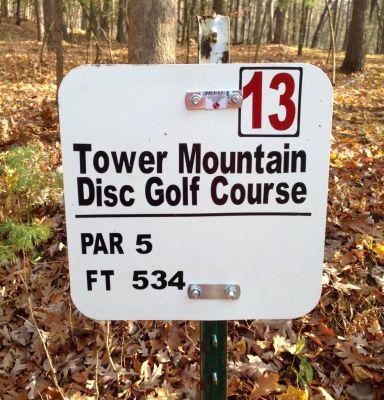 Tower Park, Main course, Hole 13 Hole sign