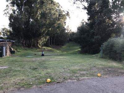 Lake Chabot Golf Course, Main course, Hole 1 Tee pad