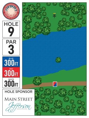 Crow's Lake, Main course, Hole 9 Hole sign