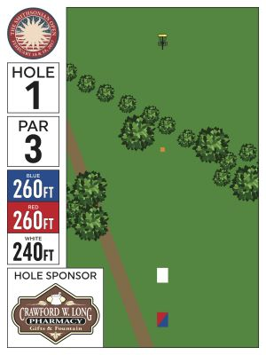 Crow's Lake, Main course, Hole 1 Hole sign