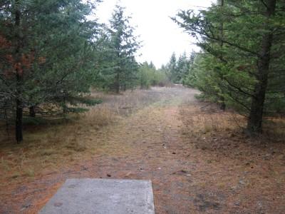 Farragut State Park, North Star, Hole 13 Tee pad