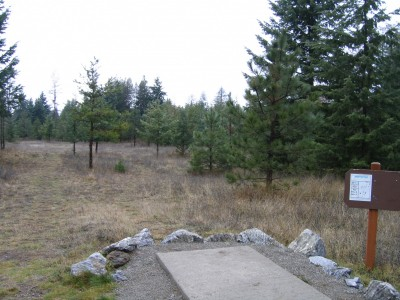 Farragut State Park, North Star, Hole 5 Tee pad