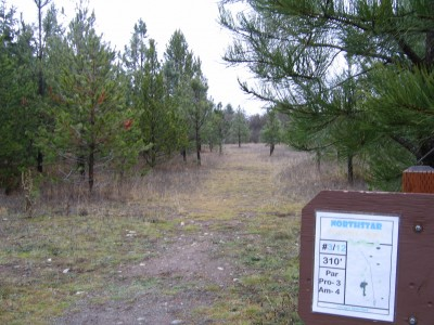Farragut State Park, North Star, Hole 3 Tee pad