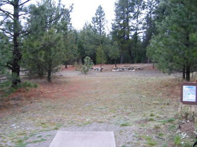 Farragut State Park, North Star, Hole 1 Tee pad