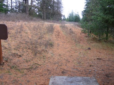 Farragut State Park, North Star, Hole 14 Tee pad