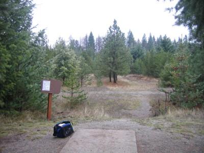 Farragut State Park, North Star, Hole 9 Tee pad