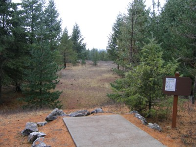 Farragut State Park, North Star, Hole 6 Tee pad