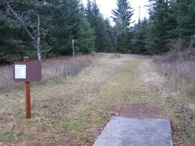 Farragut State Park, North Star, Hole 7 Tee pad