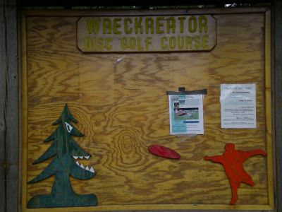 Farragut State Park, Wreckcreator, Hole 1 Tee pad