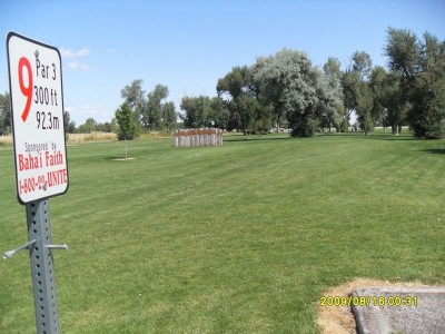 Blackfoot DGC, Main course, Hole 9 Tee pad