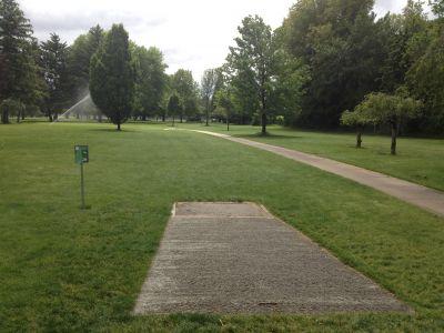 Ann Morrison Park, Southeast, Hole 16 Tee pad