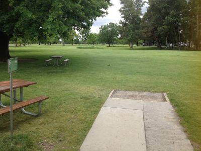 Ann Morrison Park, Southeast, Hole 6 Tee pad