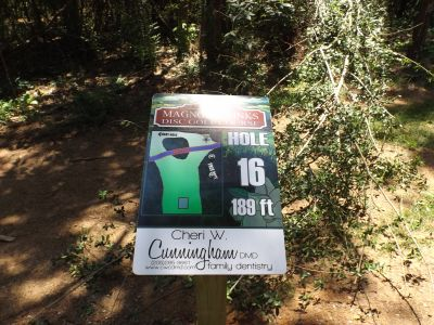Magnolia Links at Gardendale, Main course, Hole 16 Hole sign