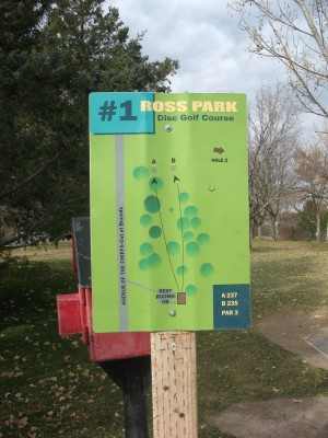 Upper Ross Park, Main course, Hole 1