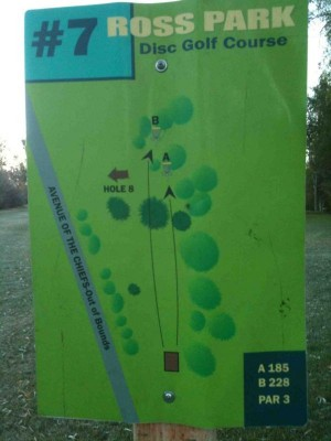 Upper Ross Park, Main course, Hole 7 Tee pad