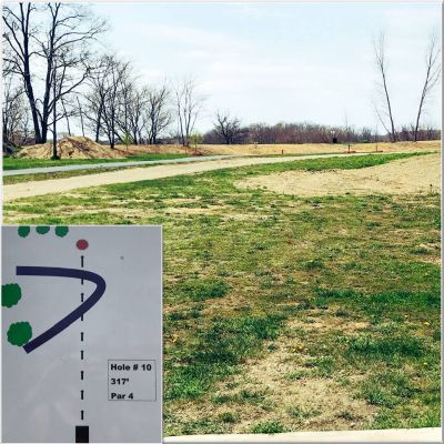 Akron Community DGC, Main course, Hole 10 Long tee pad