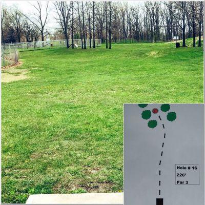 Akron Community DGC, Main course, Hole 16 Tee pad
